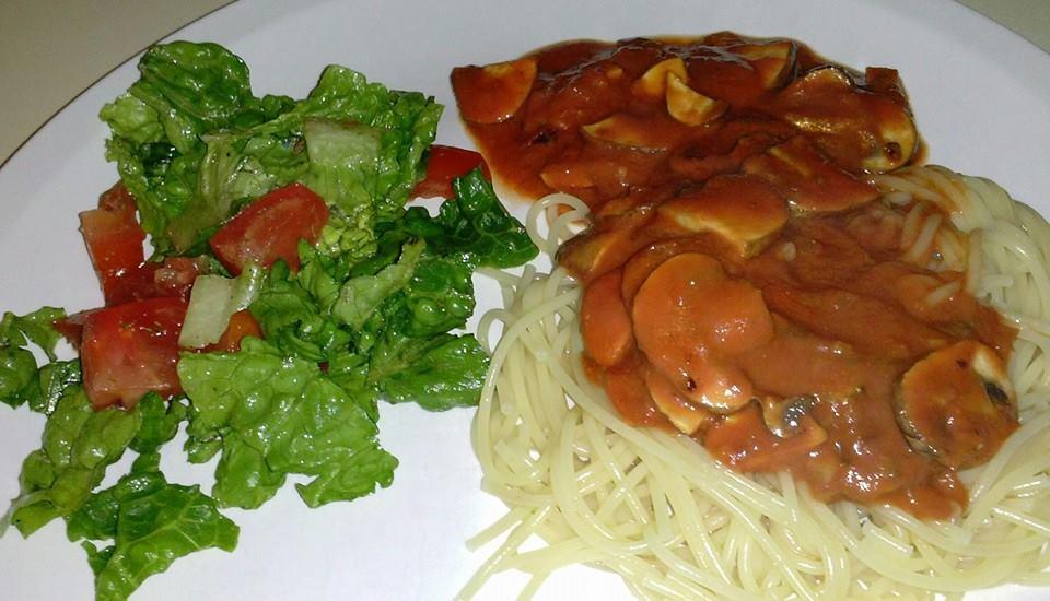 Spaghetti Funghi Bolognese