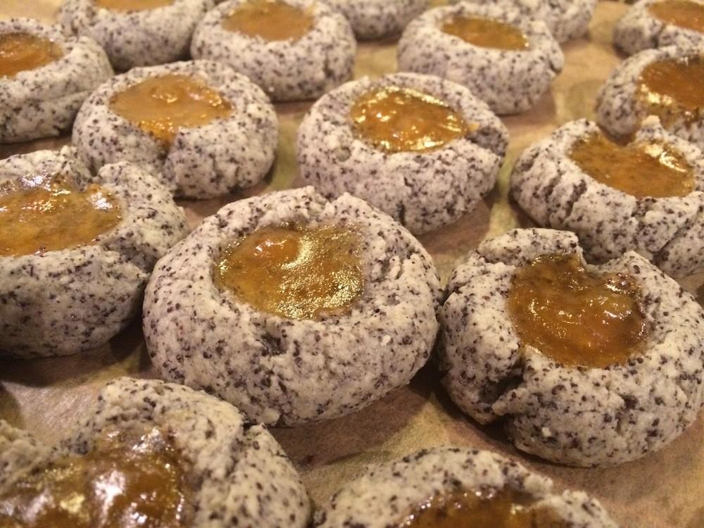 Mohn-Marzipan-Marmeladen-Plätzchen